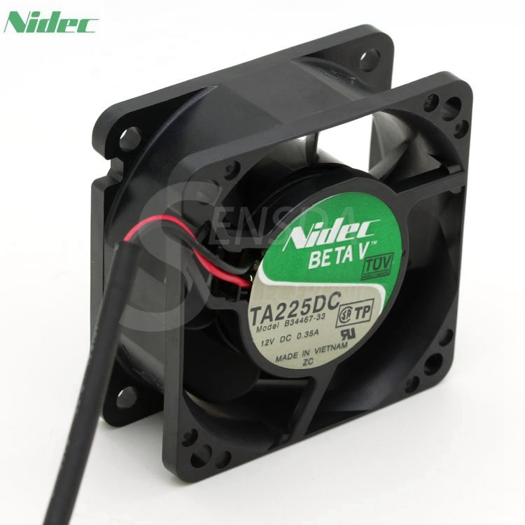 NIDEC TA225DC B34467-33 12V 0.35A 4.2W double ball bearing server inverter fan