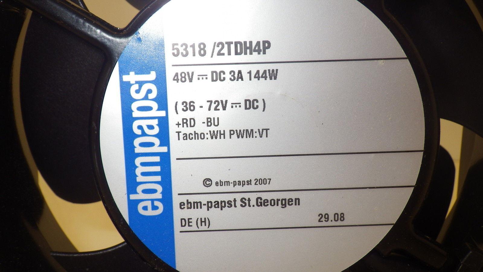 EBM PAPST 5318/2TDH4P 48V  394.3CFM 90RPM fan