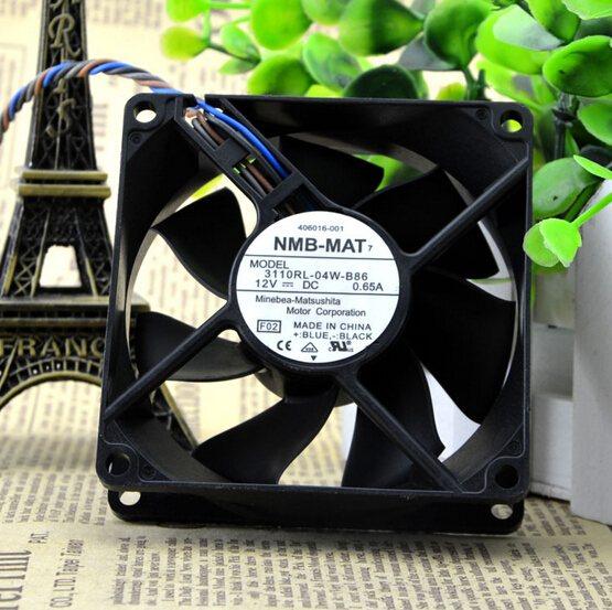 NMB 3110RL-04W-B86 80*80*25 12V 0.65A 4 line PWM control case fan