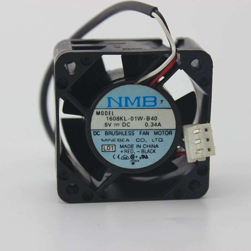NMB 1608KL-01W-B40 5V 0.34A 2-wire switch cooling equipment fan