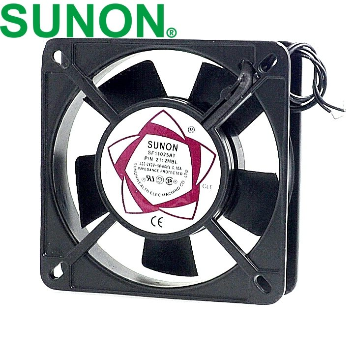 SUNON SF11025AT P/N 2112HBL 220V ball bearing fan