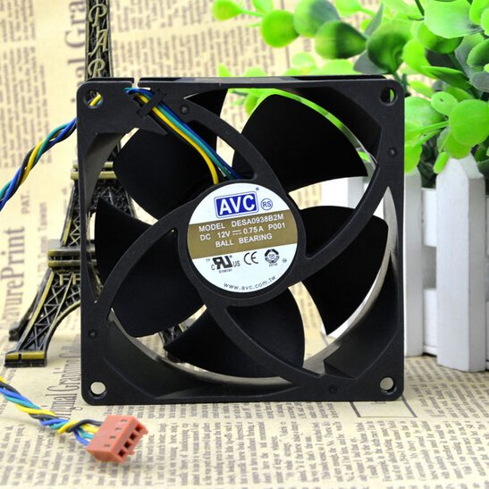 AVC DESA0938B2M 0.75A 4line PWM temperature control double ball fan