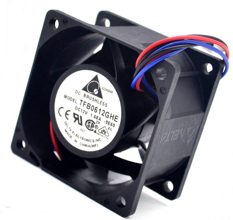 DELTA TFB0612GHE  6CM 1.68A DC 12V Server Cooling Fan