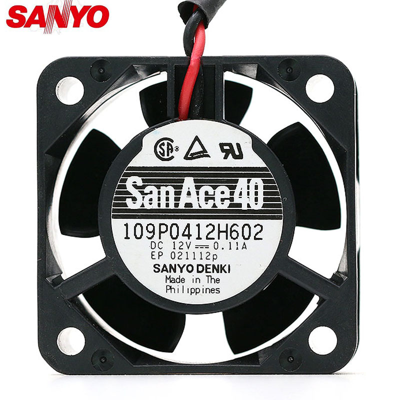 SANYO 109P0412H602 DC12V 4CM 0.11A server inverter cooling fan