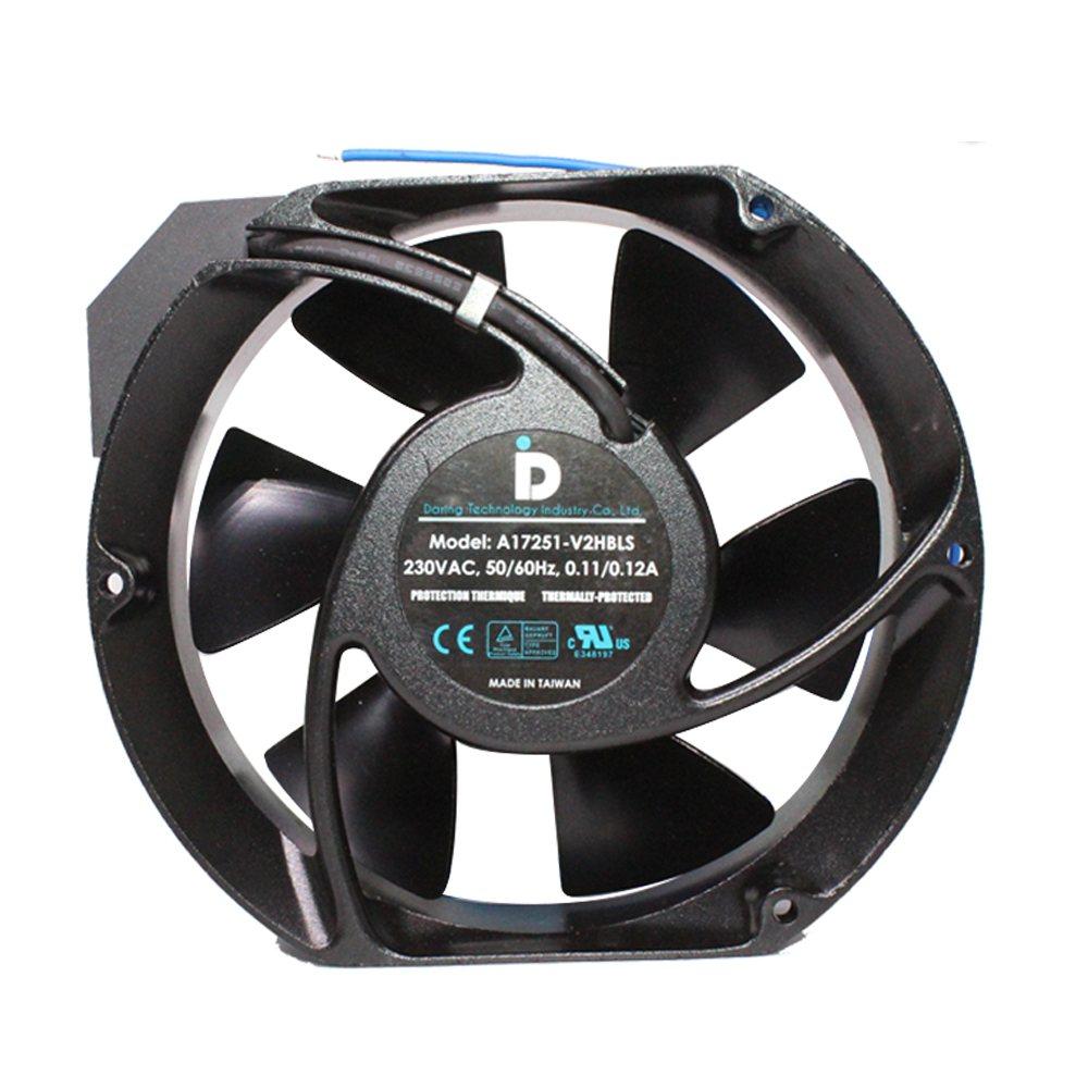 A17251-V2HBLS 230VAC 50/60Hz 0.11/0.12A Taiwan metal cooling fan