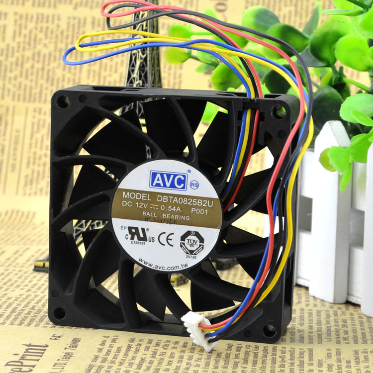 AVC  DBTA0825B2U 12V 0.54A PWM intelligent speed control fan