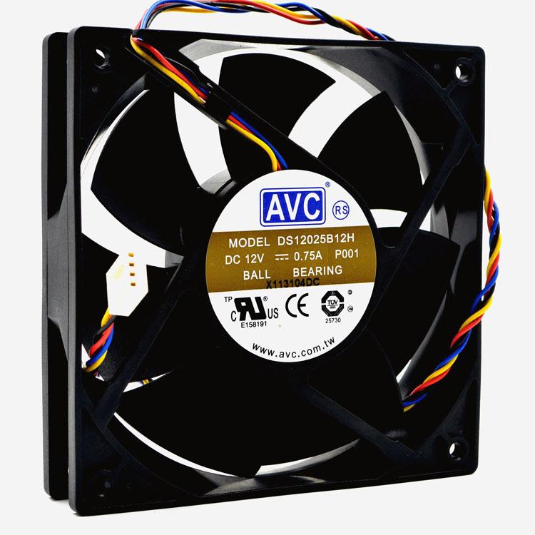AVC DS12025B12H P001 DC 12V 0.75A 12cm  PWM Cooling Fan