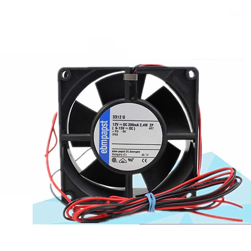 ebmpapst 3312U  DC12V 0.2A IP68 waterproof axial fan