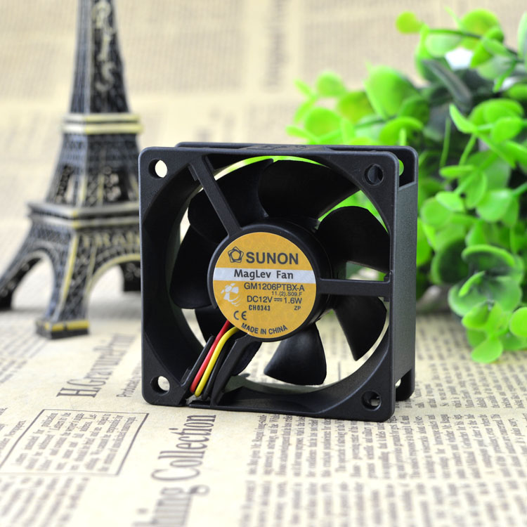 Sunon GM1206PTBX-A 12V1.6W 6CM ultra-quiet power supply chassis cooling fan