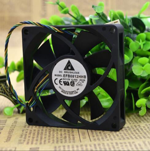 Delta EFB0812HHB 12V 80*80*15mm 0.4A 4-line PWM intelligent temperature control cooling fan