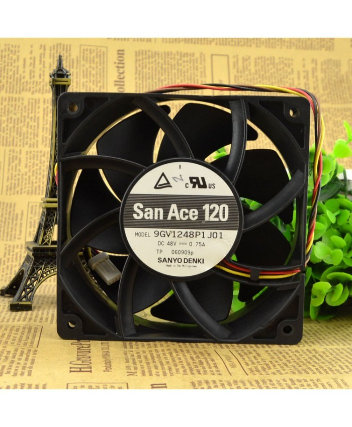 SANYO 9GV1248P1J01 48V 0.75A SANACE120 cooling fan