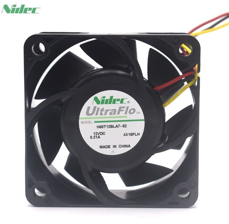 Nidec H60T12BLA7-52  12V 0.21A dual ball case cooling fan
