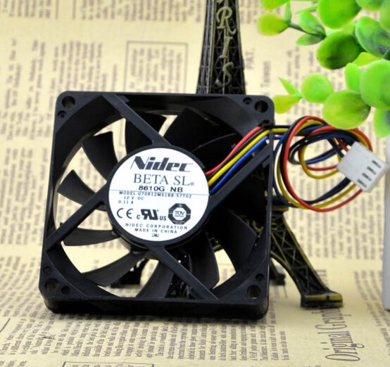 Nidec  U70R12MS1BB-57T02  7CM 12V 0.11A 4wire fan