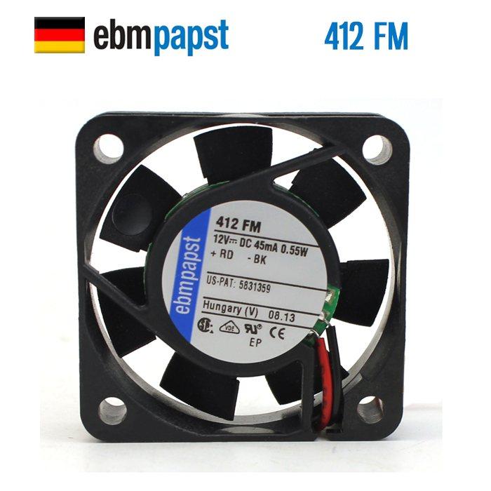 EBMPAPST 412FM 12V 0.045A 0.55W  cooling fan