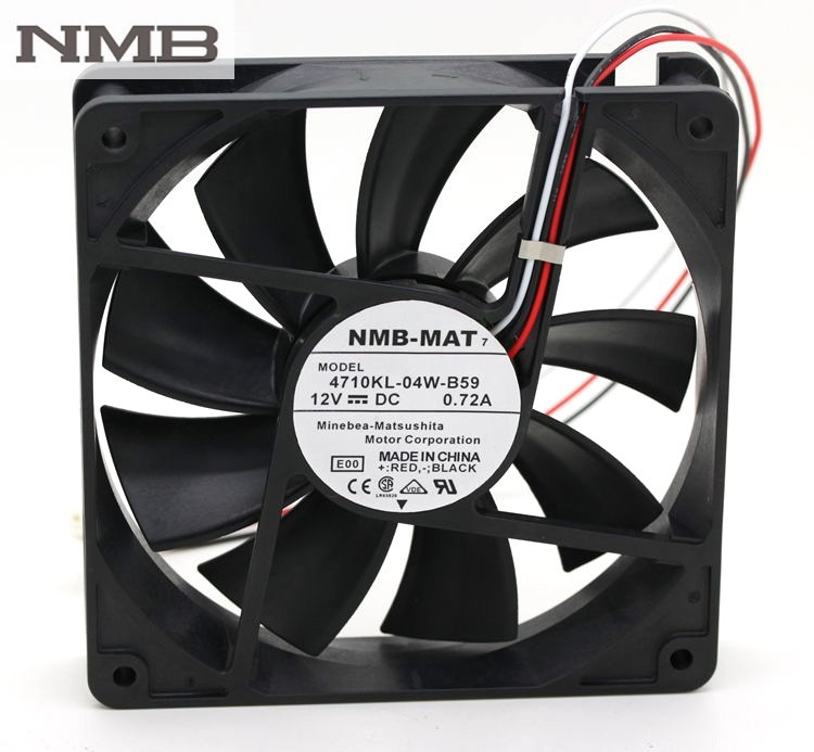NMB 4710KL-04W-B59 12V 0.72A  120*120*25MM 3 line to stop alarm fan