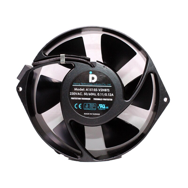 Taiwan A15155-V2HBTS 230V high temperature metal cooling fan