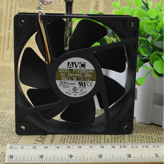 AVC P1238B24H 12CM 120*120*38 24V 0.35A four wire inverter dual ball fan