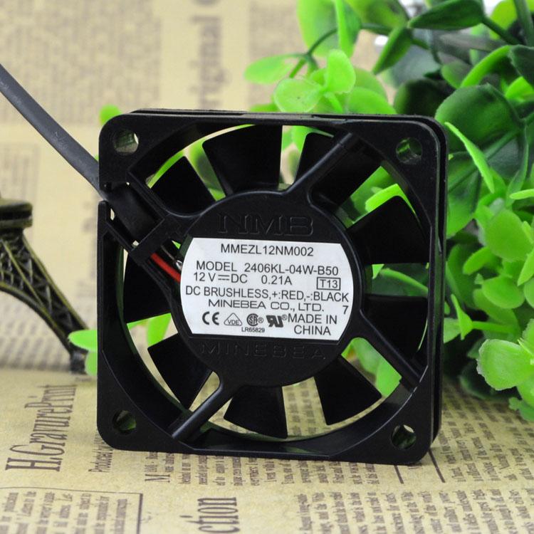NMB 12NM002 2406KL-04W-B50 12V 0.21A 6CM T13 DC BRUSHLESS fan