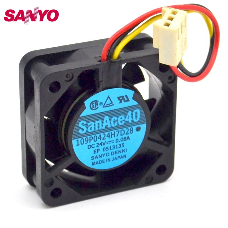 Sanyo 109P0424H7D28  DC24V 0.08A server cooling fan