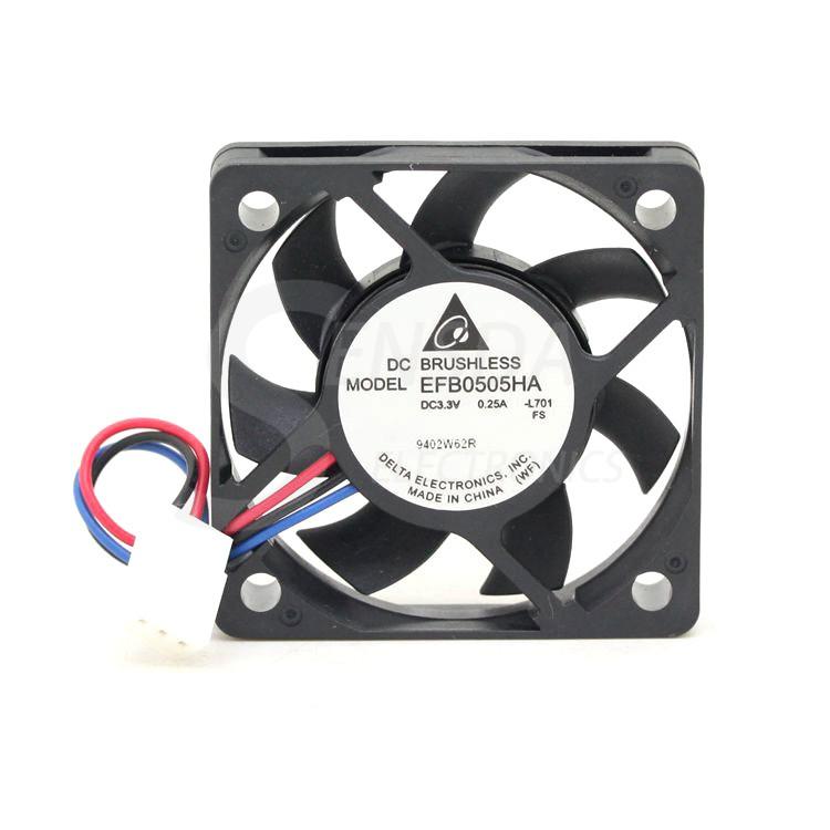 DELTA EFB0505HA 5cm DC3.3V 0.25A speed server inverter axial cooling fan