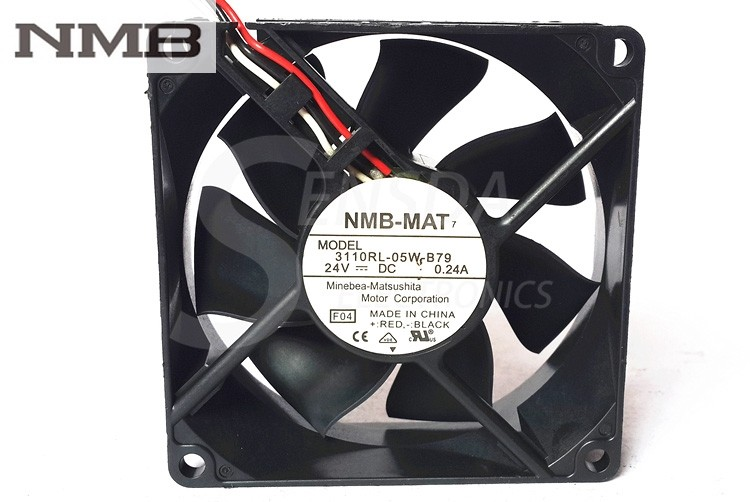NMB 3110RL-05W-B79 24V 0.24A 3-wire  axial Cooling Fan