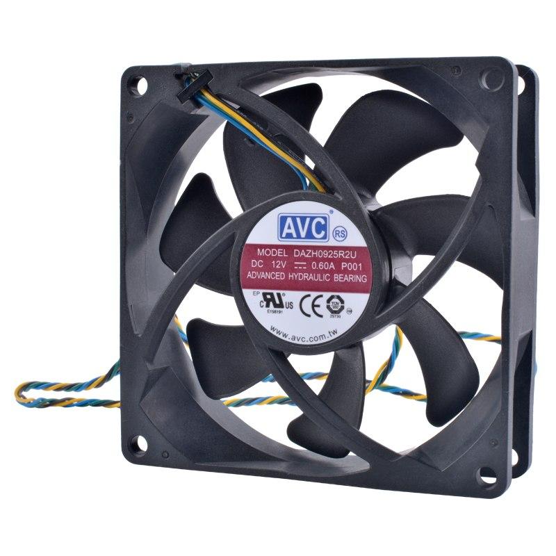 AVC DAZH0925R2U 12V 0.60A 4pin PWM high volume air cooling fan