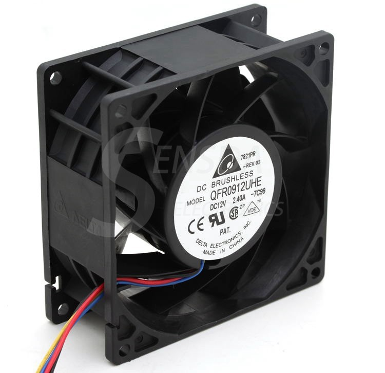 Delta 9cm QFR0912UHE 9238 90mm DC 12v 2.40A 4-pin pwm server inverter axial cooler Cooling fans high speed