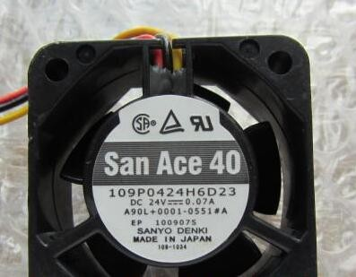 Sanyo 109P0424H6D23 24V 0.07A 4cm cooling fan