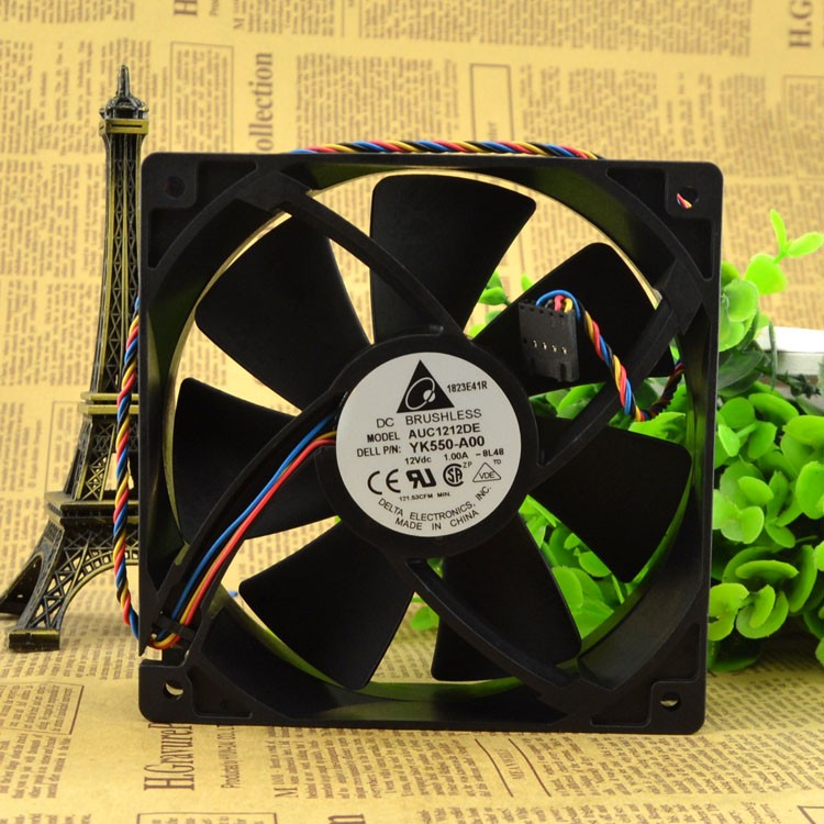 Delta AUC1212DE YK550-A00 DC12V 4wire Cooling fan