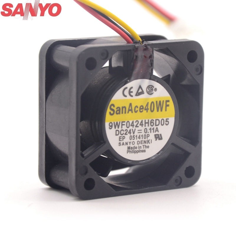 Sanyo 9WF0424H6D05 DC24V 0.11A 3-P axial cooling fan
