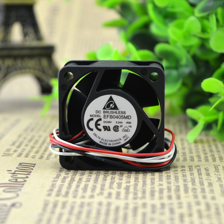 Delta EFB0405MD -R00 4cm DC5V 0.24A 3-wire 4-pin Server Axial Cooling Fan