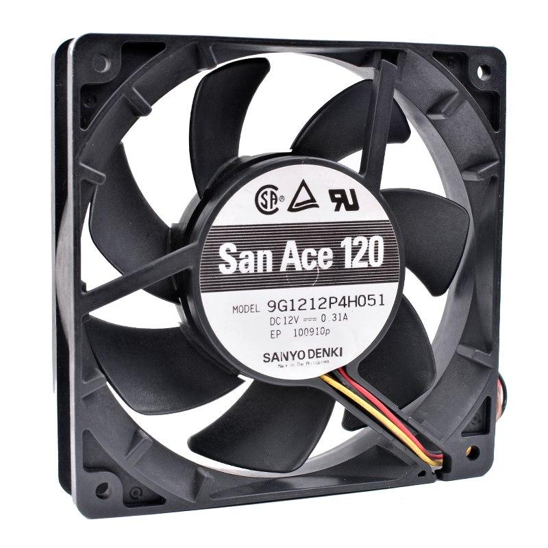 Sanyo 9G1212P4H051 DC12V 0.31A 4pin PWM Computer Cooling Fan