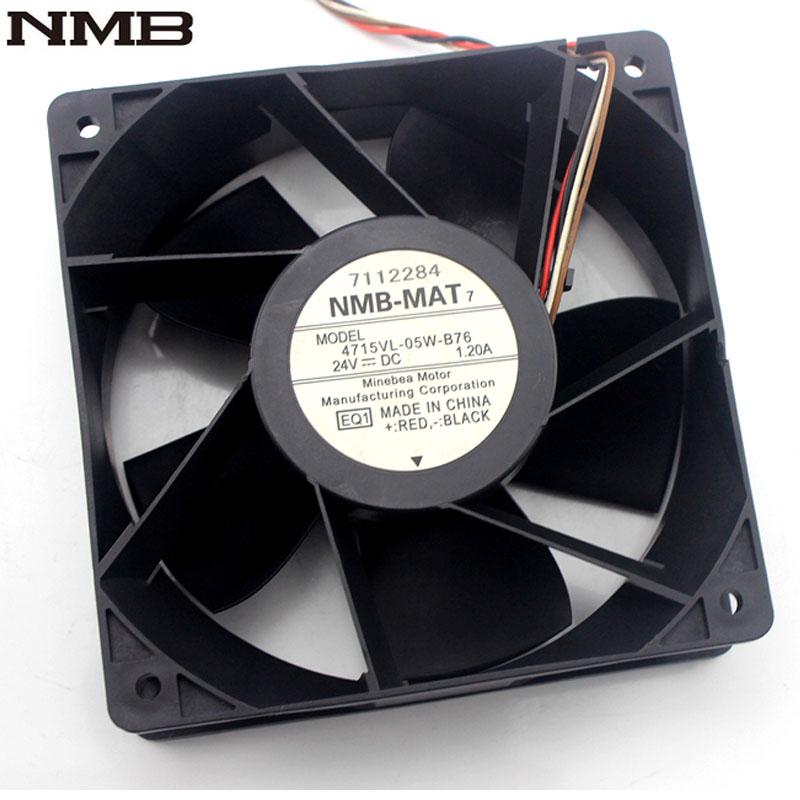 NMB 4715VL-05W-B76 120*120*38mm 12CM 24V 1.20A inverter cooling fan