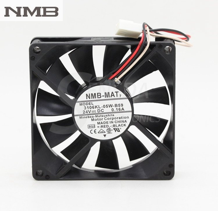 NMB 3106KL-05W-B59 8CM 24V 0.16A three-wire inverter cooling fan