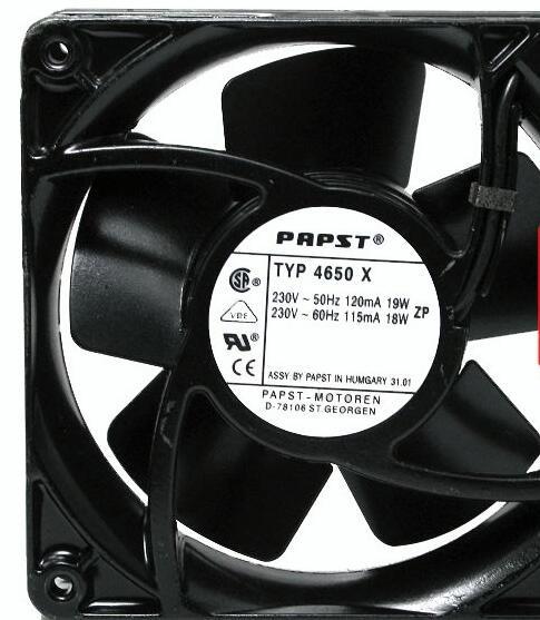 PAPST 12038 TYP4650X 230V~50Hz 19W 230V~60Hz 18W Cooling Fan