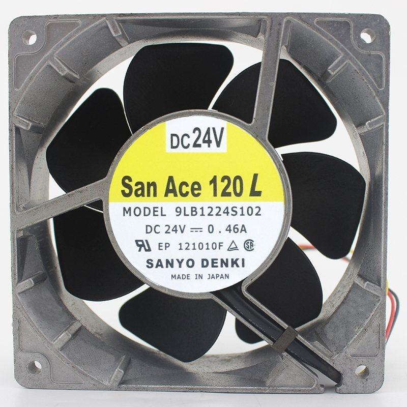 Sanyo 9LB1224S102 DC24V 0.46A 12cm inverter fan