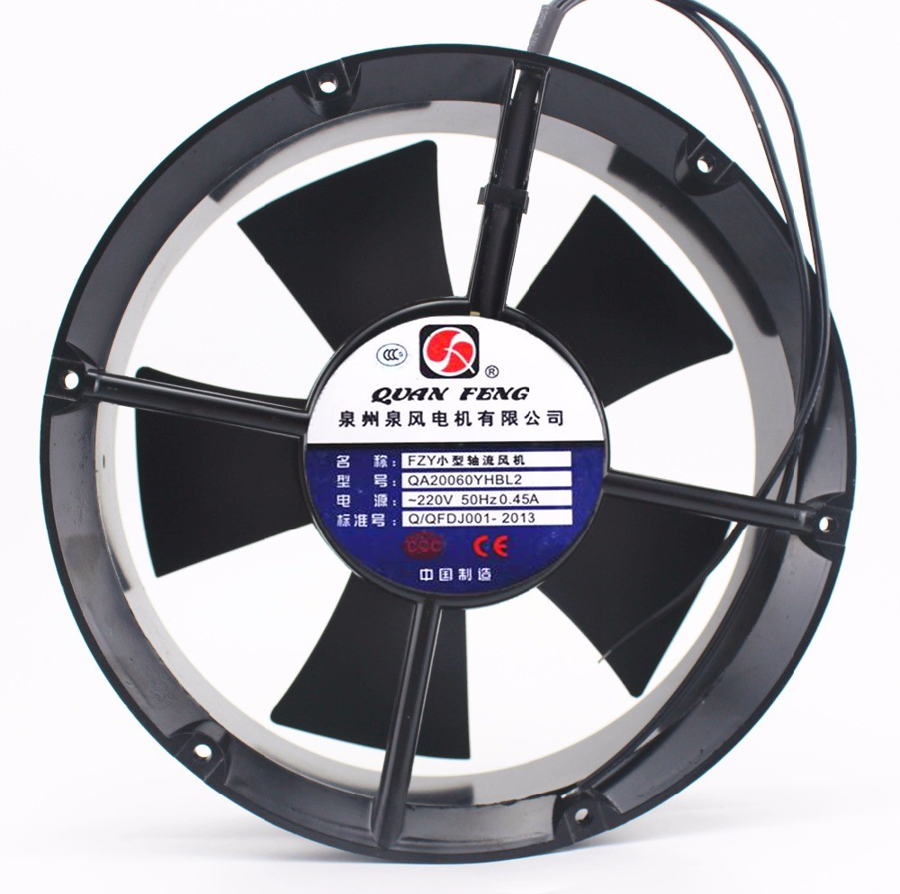 QA20060YHBL2 Small Axial Fan 220V 65W 0.45A Cooling Fan Blower