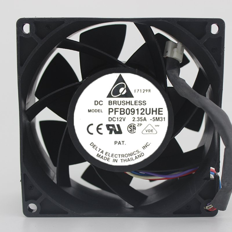 Delta PFB0912UHE 12V 2.35A 9CM 4 line Super Violence Server cooling fan