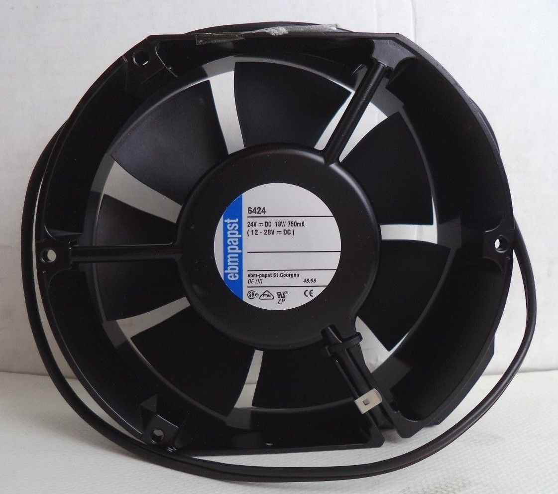 ebm-papst P/N 6424 12-28 NOMINAL VDC 18W 750mA AXIAL COMPACT FAN