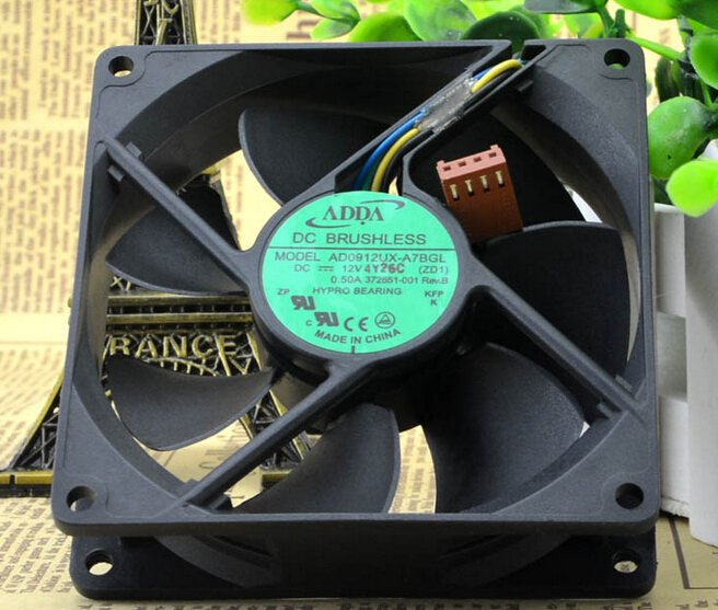 ADDA AD0912UX-A7BGL DC12V 0.33A CPU chassis server inverter cooling fans