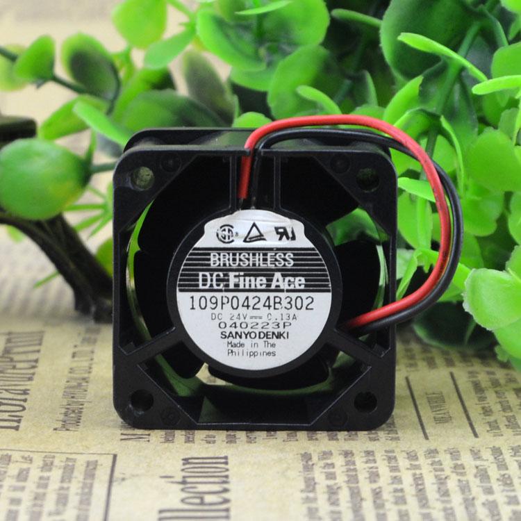 Sanyo 109p0424b302 DC24v 0.13A 40 * 40 * 28mm axial flow fan