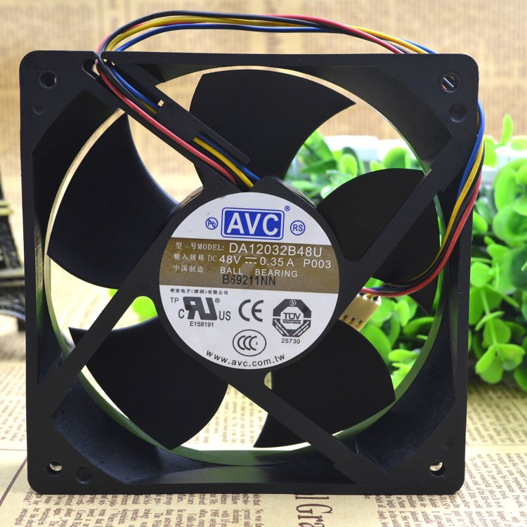AVC DA12032B48U 48V 0.35A double ball bearing cooling fan