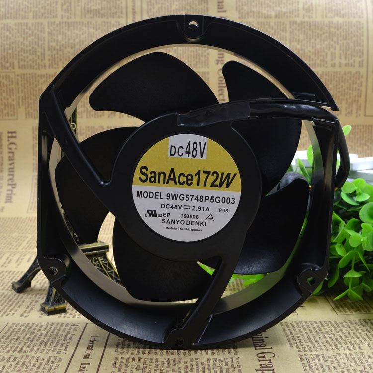 SANYO 9WG5748P5G003 DC48V 2.91A 2000RPM axial flow inverter cooling fan