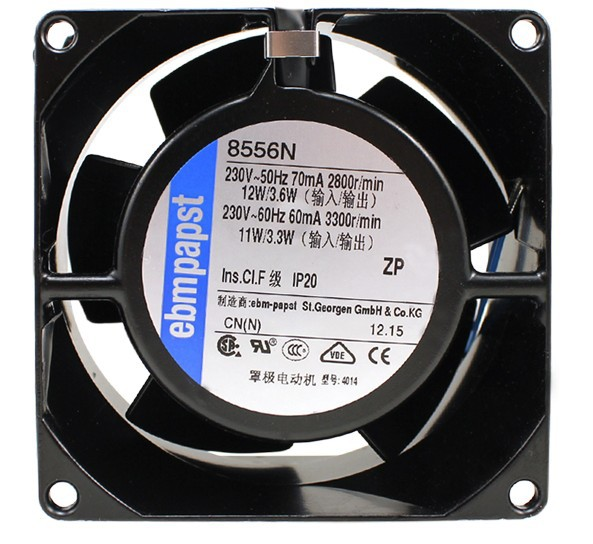 EBMPAPST 8556N 230V  metal temperature cooling fan