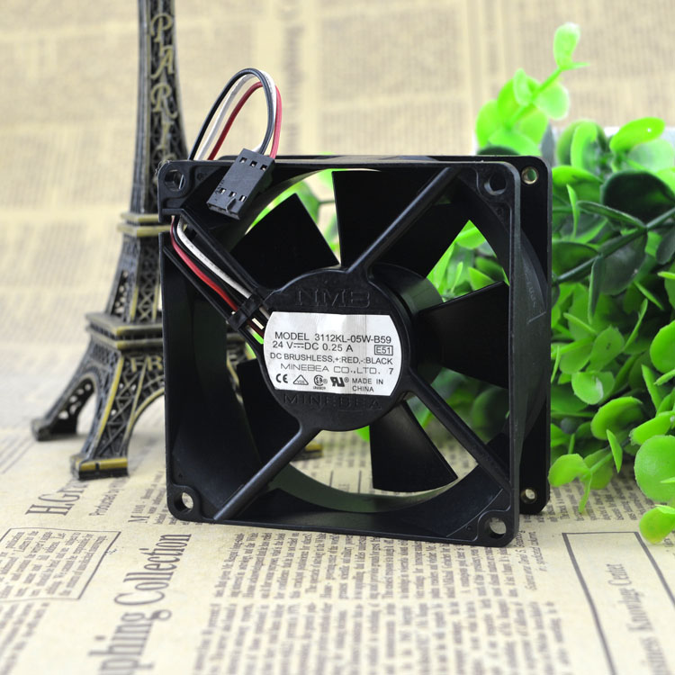 NMB 3112KL-05W-B59 24V 0.25A inverter DC cooling fan