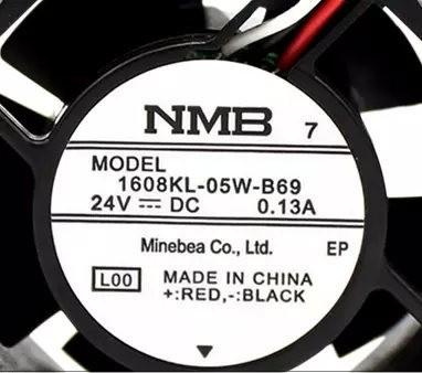 NMB-MAT  1608KL-05W-B69  DC24V 0.13A inverter fan