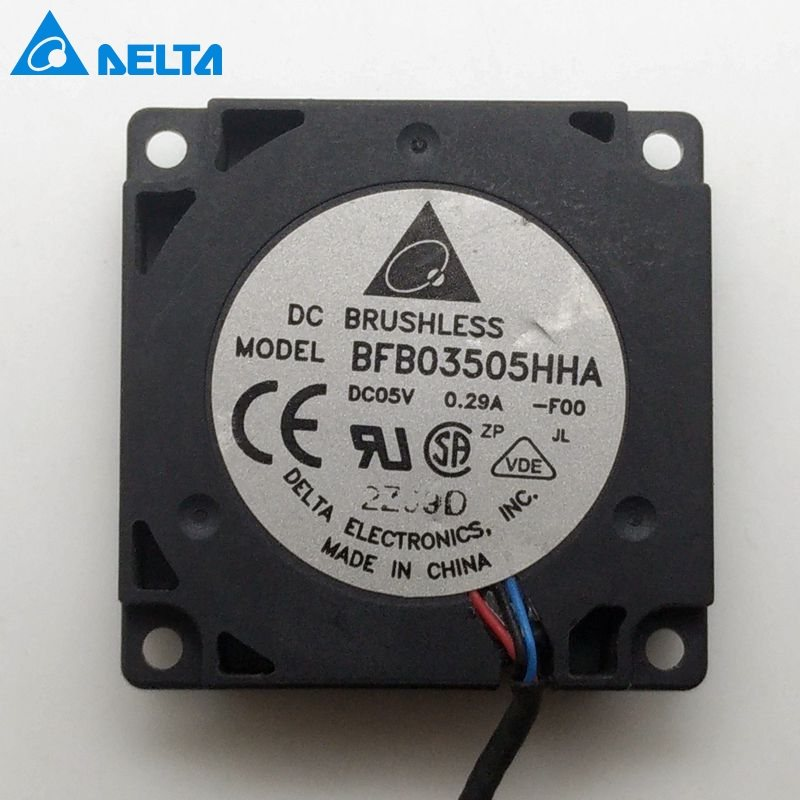 delta  BFB03505HHA DC 5V 0.29A 3Wires  35*35*10mm Turbine Centrifugal Cooling Fan