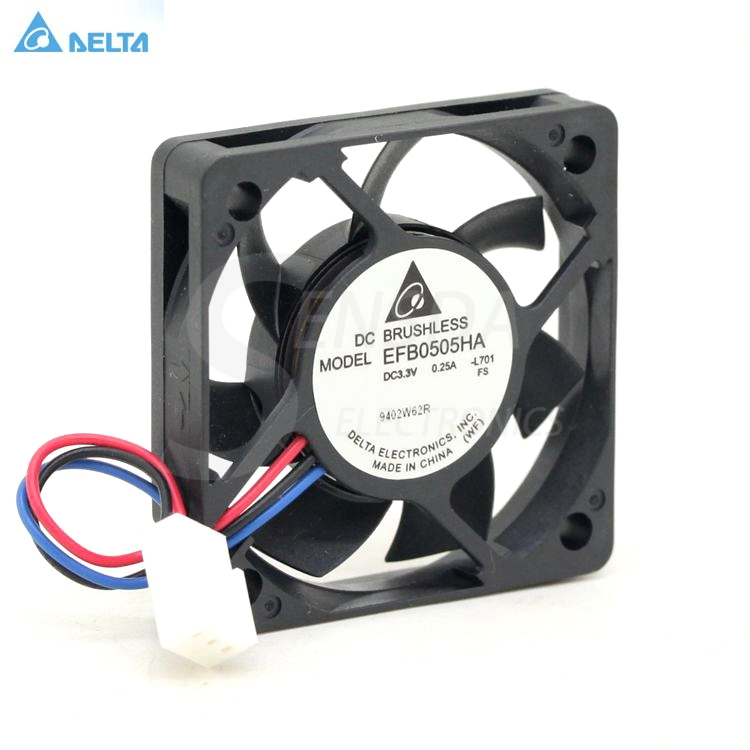 DELTA EFB0505HA 5cm DC3.3V 0.25A speed server inverter axial cooling fan
