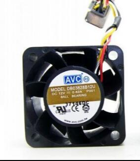 AVC DB03828B12U 12V 0.82A 3-wire server chassis cooling fan