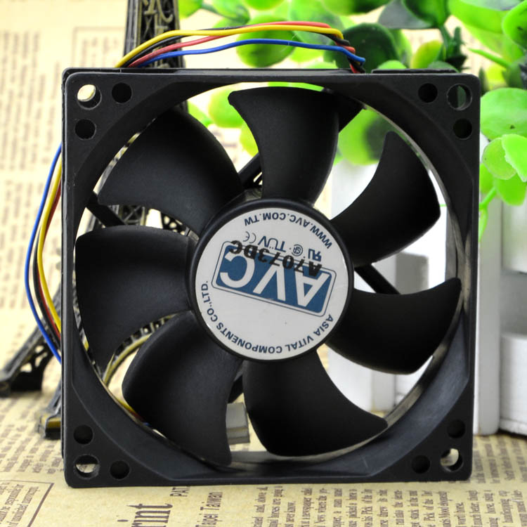 AVC DS08025R12HP015 12V 0.25A 4wire WM temperature control chassis fan